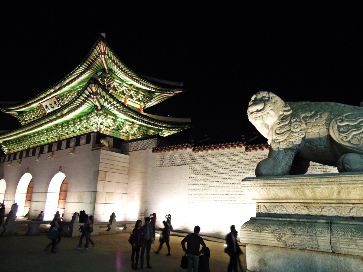 Luminous Gyeongbokgung(Korean Royal Palace) at night